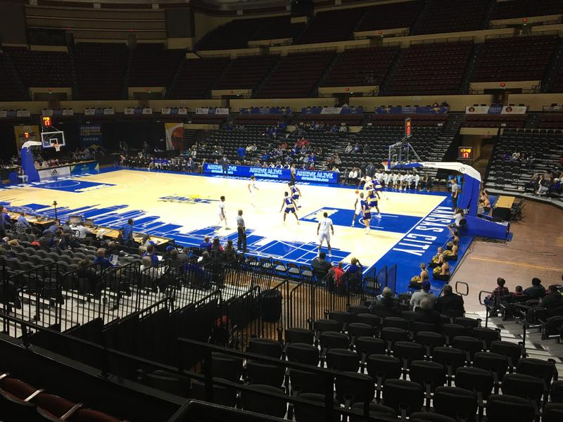 A recent UMKC men's basketball game at Municipal Auditorium was sparsely attended.