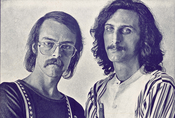 Brewer and Shipley as they appeared in a 1972 poster for a show at Kansas City's Cowtown Ballroom.