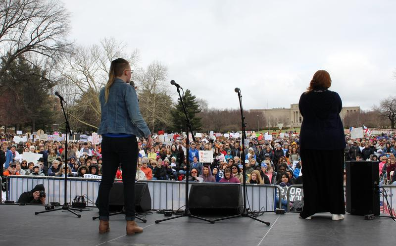 At Kansas City's 'March for Our Lives' event Saturday, Winnetonka High School senior Danielle Dodd called on the crowd of thousands to get out and vote.