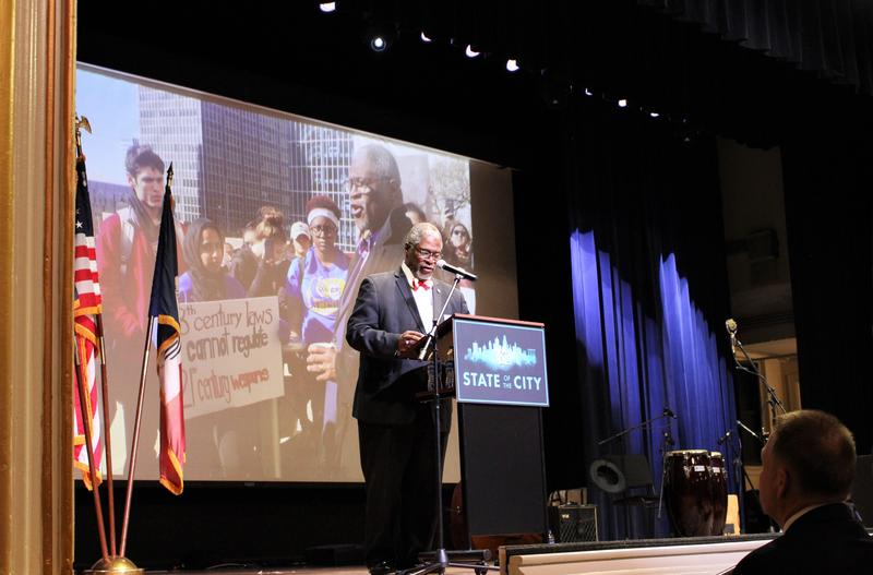 Mayor Sly James doesn't shy away from talk of guns and violence in his 'State of the City' address Tuesday.