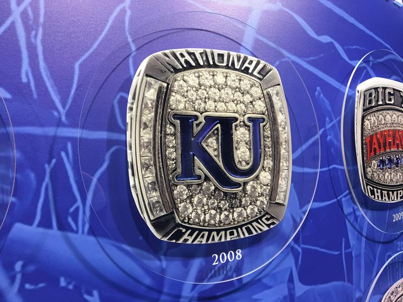 The last time the University of Kansas basektball team played for the NCAA championship in San Antonio, players earned these rings.