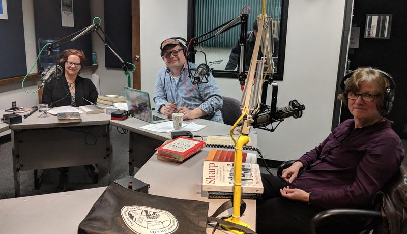 KCUR's Bibliofiles from left to right: Kaite Stover, Mark Luce and Jeffrey Ann Goudie