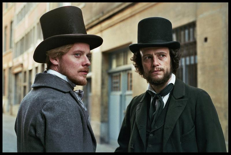 "Stefan Konarske as Friedrich Engels and August Diehl as Karl Marx in the biopic, ""The Young Karl Marx."""