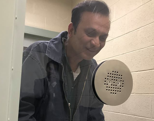 Syed Jamal in detention in El Paso, Texas. He was taken into custody by ICE agents earlier this year.