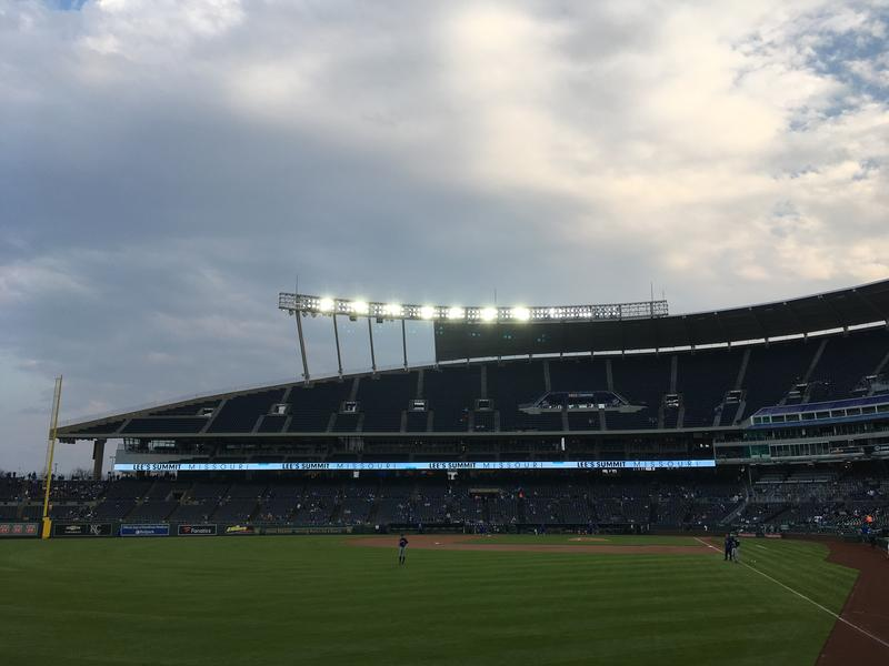 Early this season, the seats at Kauffman Stadium have been fairly empty before first pitch.