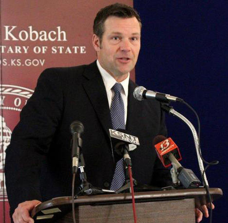 Kansas Secretary of State Kris Kobach was the target a move by the state House to not pay contempt of court costs.