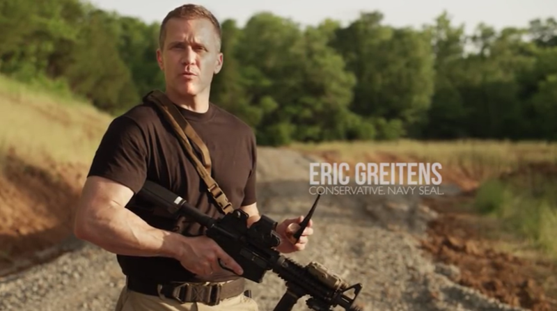 Missouri Governor Eric Greitens in a 2016 campaign commercial.