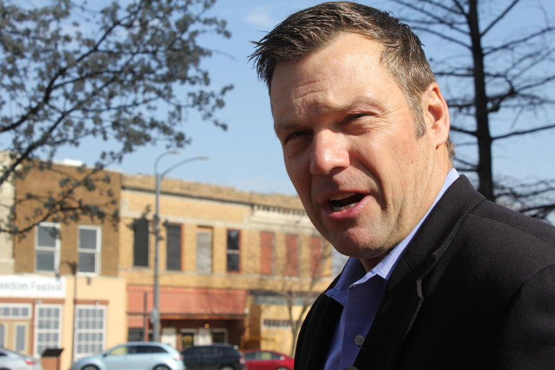 FILE PHOTO: Kansas Secretary of State Kris Kobach