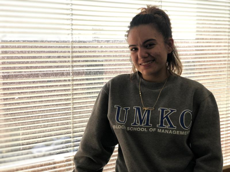 Paloma Ramos, 21, was just a few credits shy of her high school diploma when she dropped out of Kansas City Public Schools. She's now taking classes at Penn Valley as part of a new 'middle college' program for dropouts.