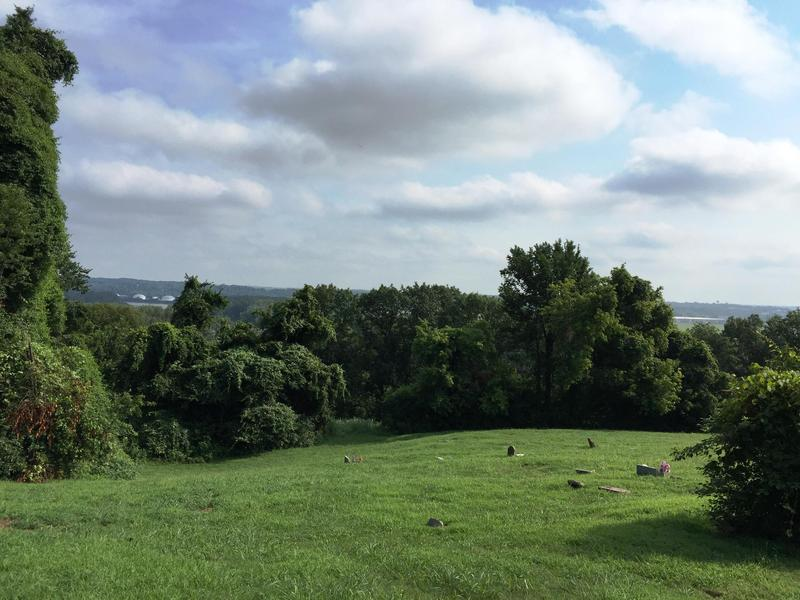 The former site of Quindaro township overlooks the Missouri River from Kansas City, Kansas.