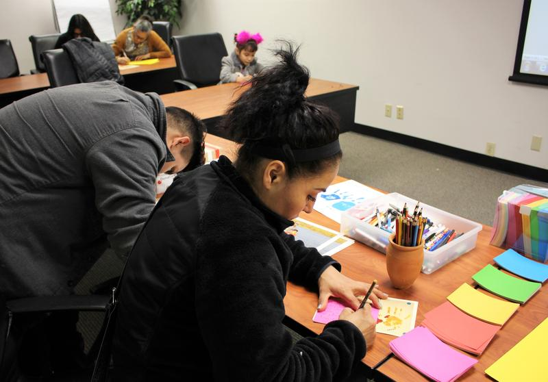 Friends, family and community members gathered in April to write letters calling on ICE to release Crecensio Mendez Ramirez from detention. He has since been deported.