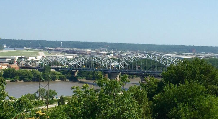 Kansas City's Buck O'Neill Bridge over the Missouri River will close to southbound traffic on May 19. Repairs are expected to be complete by December 1.