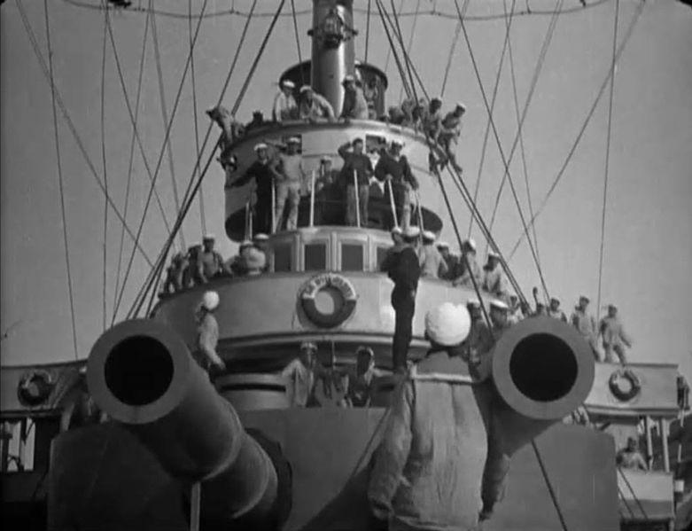 A still image from Sergei Eisenstein's 'Battleship Potemkin.'