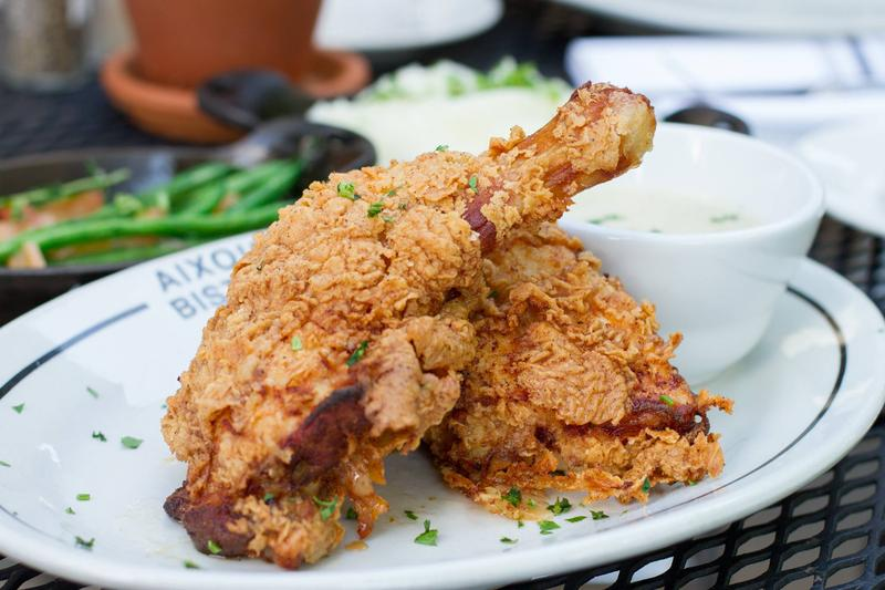 Fried chicken from Aixois Bistro.