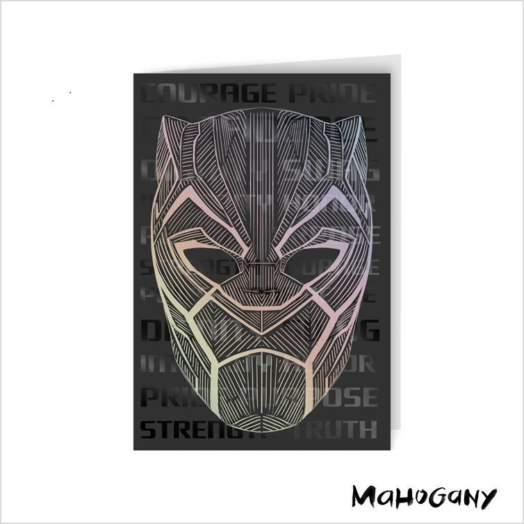 A Black Panther card from Hallmark's latest line.