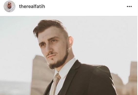 Instagram photo of Fatih Seferagic on his recent wedding day