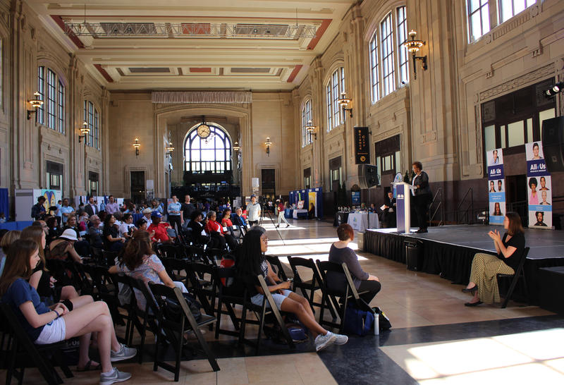 Hundreds stopped by during an all-day event at Union Station Sunday to kick off a new national research program to create a more diverse genetic database.