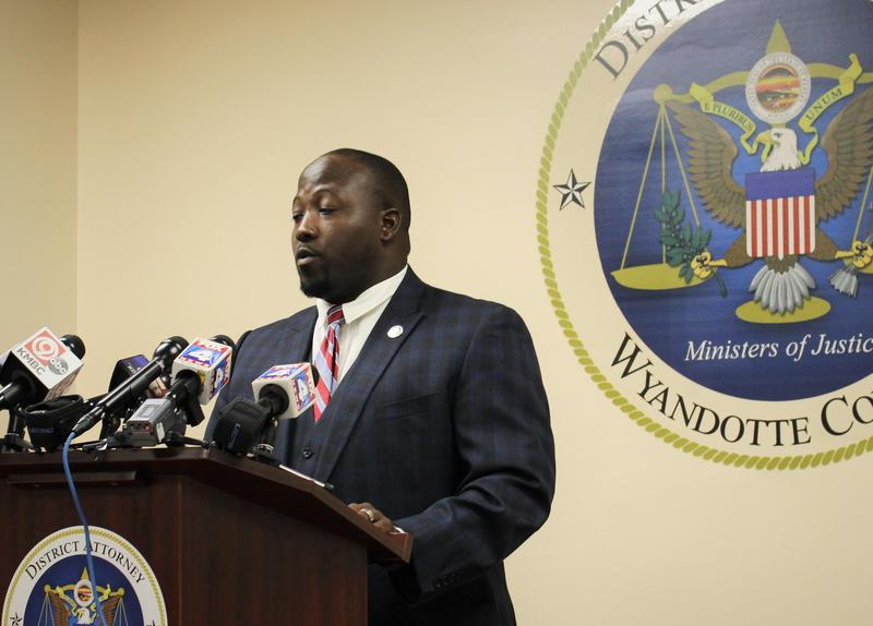 At a press conference Tuesday, Wyandotte County District Attorney Mark Dupree announced charges against Kansas City, Kansas, police officer Steven Rios for alleged sexual battery.