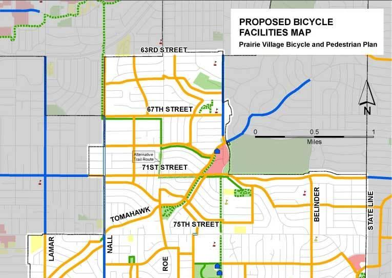 A bike plan for Prairie Village includes 40 miles of new shared and bike lanes.