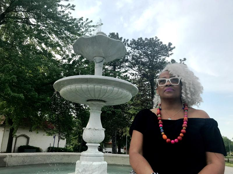 Brenda Thomas pestered the city to repair this fountain at 79th Street and Paseo Boulevard; it led to a decade-long commitment to the neighborhood organization. She just stepped down as Marlborough Coalition's president.
