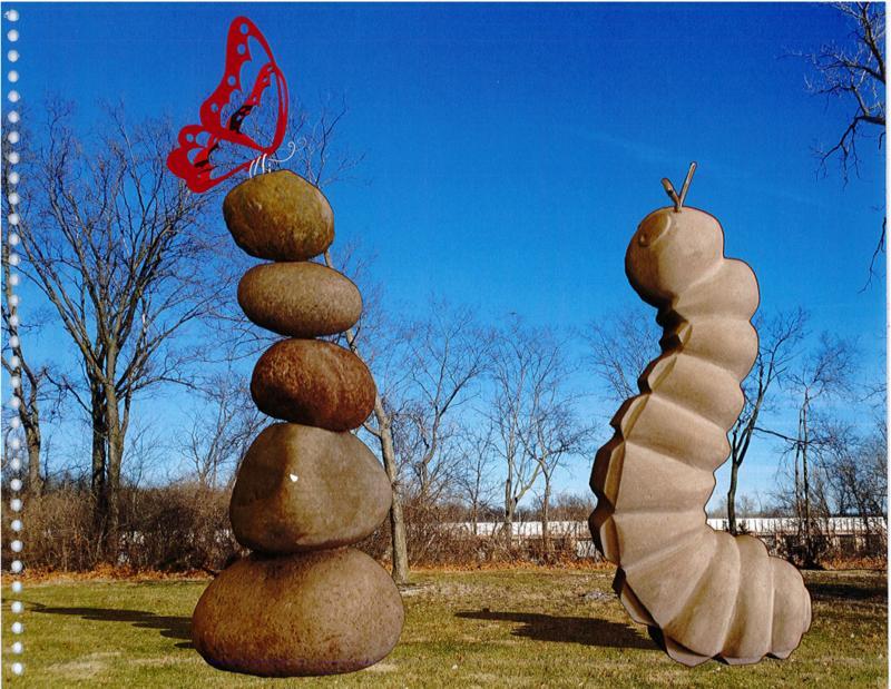 Sculptor Joshua Wiener described his proposed sculpture as a 'playful exploration.'