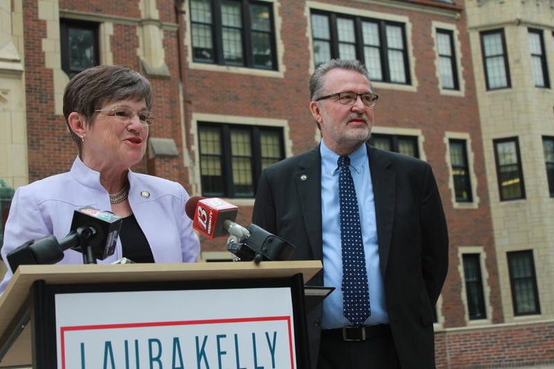 State Sen. Laura Kelly of Topeka announced Thursday that fellow lawmaker Lynn Rogers would run on her ticket for governor.