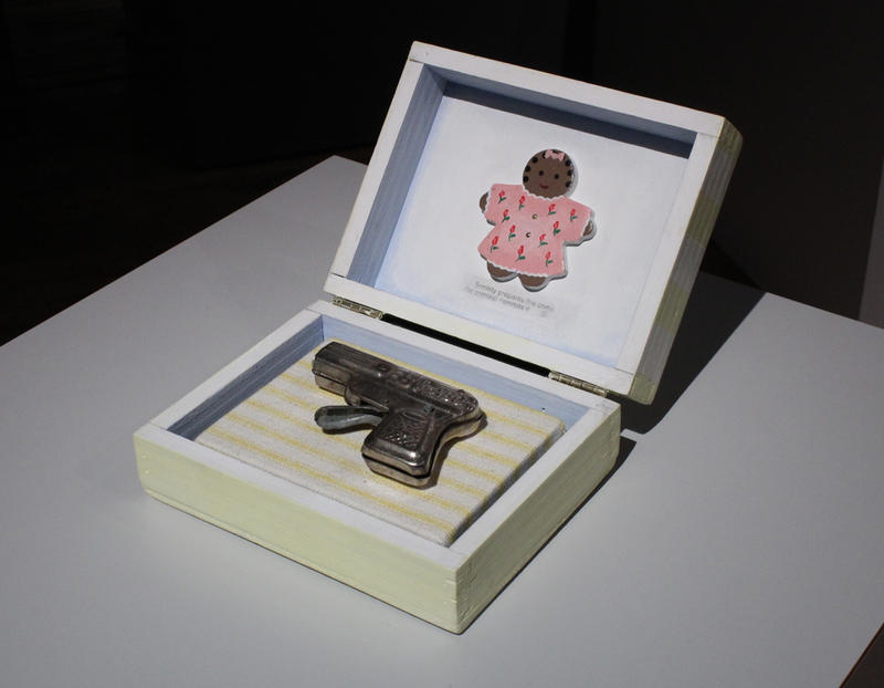Renee Stout's 'Baby's First Gun,' from 1998, is on display at the Belger Arts Center.
