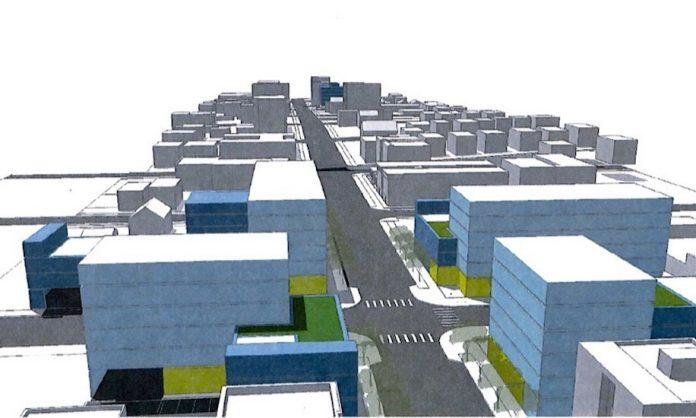A conceptual look at the proposed Armour Corners project.