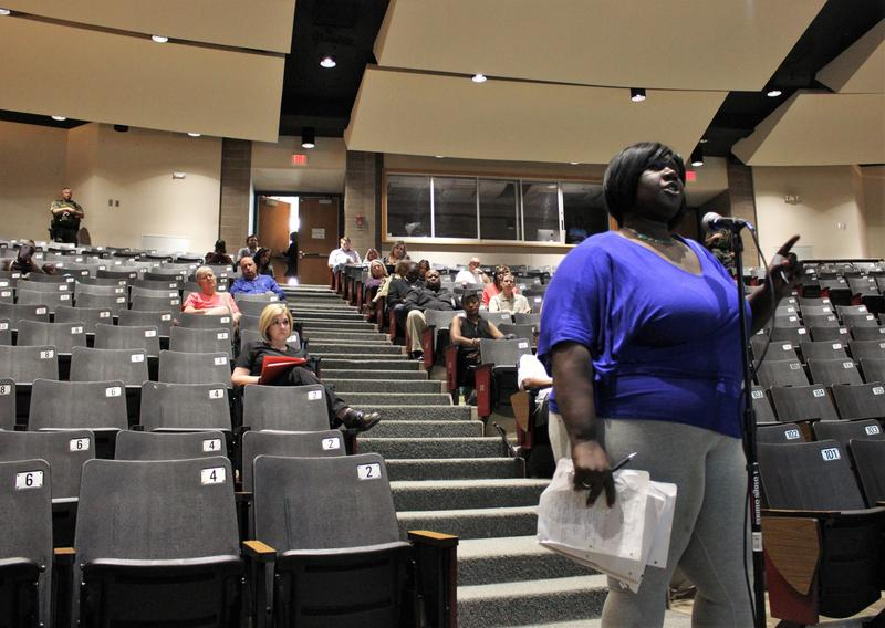 At a public hearing on the Jackson County Jail Monday, Ebony Williams, who is the mother of an inmate, raised concerns that the jail's corrections officers are not properly educated.
