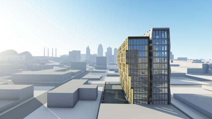 The proposed 18th and Walnut apartment tower would add a dramatic flourish to the downtown skyline.