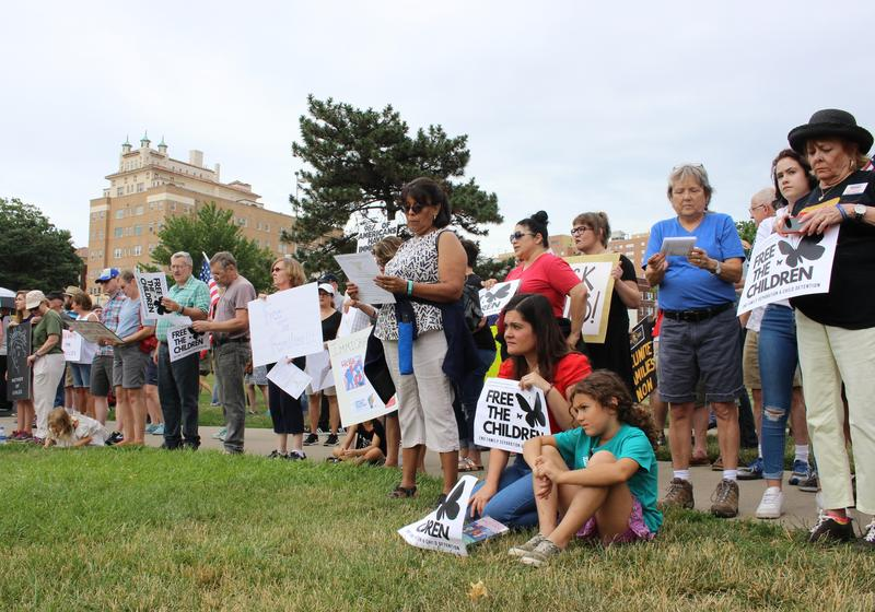 Hundreds of people gathered Sunday at Mill Creek Park in midtown Kansas City to protest family separation at U.S. borders.