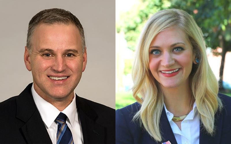 Democrat Rep. Lauren Arthur (right) defeated Republican Rep. Kevin Corlew in a special election Tuesday night to fill an unexpired term in the Missouri Senate.