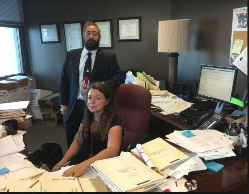 Ruth Petsch, head of the Kansas City office of the Missouri Public Defender, and her deputy, Joseph Megerman, contend their attorneys are overburdened.
