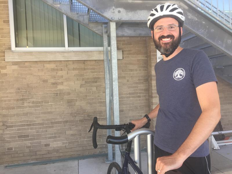 Sam Green was one of a handful of cyclists who attended a community forum to discuss the Paseo Boulevard bikeway project.