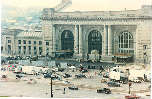 Union Station during the filming of Robert Altman's 'Kansas City.'