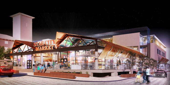 3D Development plans a food hall, boutique grocer and office complex along 18th Street along with renovation of the historic Kansas City Star building.