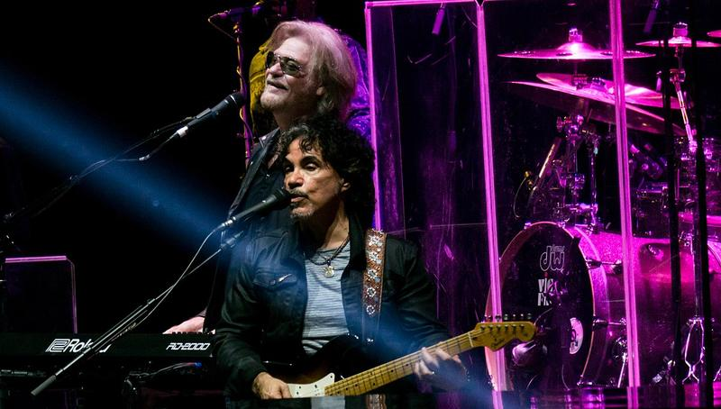 Daryl Hall and John Oates performing in 2017.