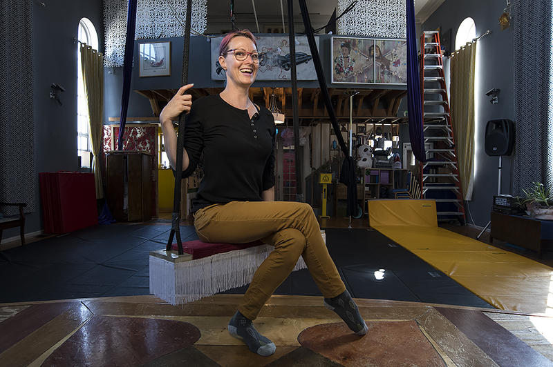 Rachel McMeachin is the owner and co-founder of Voler, Thieves of Flight, located in a converted Russian Orthodox Church in Kansas City, Kansas.