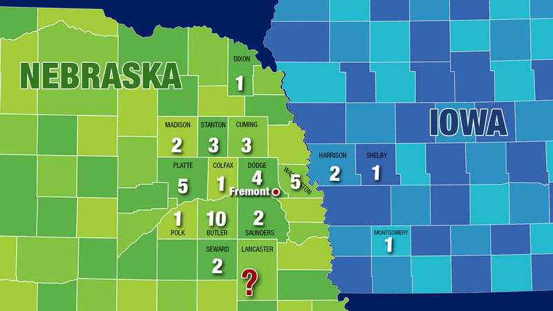 The number of applications for Costco chicken barn projects approved in Nebraska and Iowa counties, based on a list from Lincoln Premium Poultry.