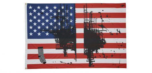 Untitled (Flag 2), 2017 by Josephine Meckseper