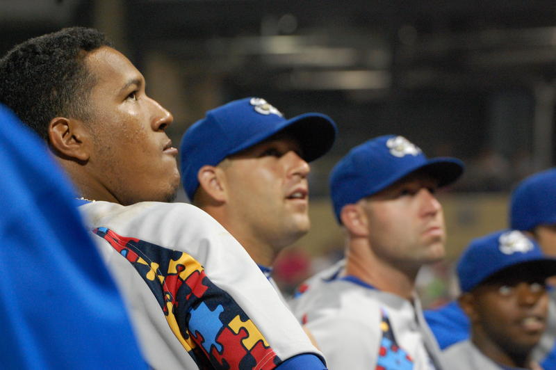 As of Sunday, Salvador Perez, left, and the Kansas City Royals have the league's worst record, with 27 wins and 68 losses.