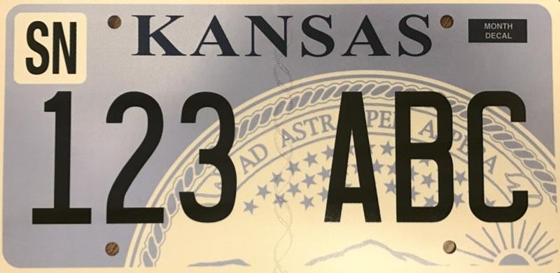 Even though the new, digitally printed Kansas license plates will have the same basic design, the characters on the plate will be printed flat on the metal instead of being embossed.