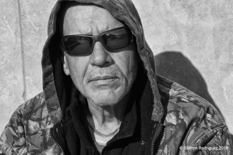 A man named Mark is one of 14 people Sharon Rodriguez photographed for her book 'Homeless, With Honor.'