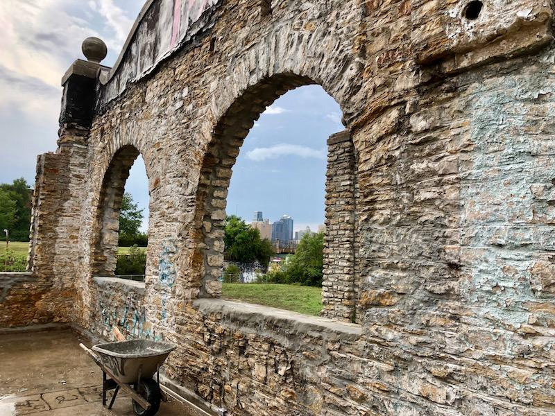 The limestone buildings at 2000 Vine are believed to be the young Kansas City's first public works facilities.