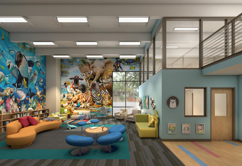 A rendering of a planned Kansas City daycare that will cater to children with compromised immune systems.