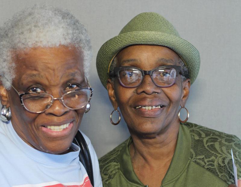 Earline Bentley and Cheryl Looney remembered their childhoods growing up in Kansas City's Leeds neighborhood.