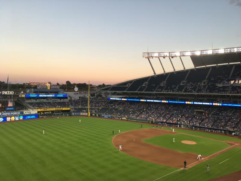 The Royals play at Kauffman Stadium during September 2018.