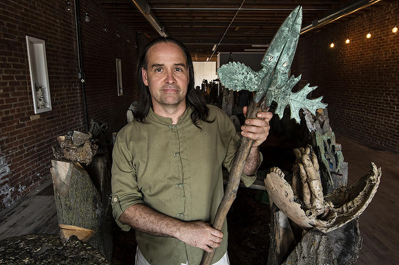 Sculptor Michael Wickerson is an associate professor at the Kansas City Art Institute. His installation, 'Not Wanted On The Voyage,' is the first show at The Armory, a Crossroads gallery started with the idea of connecting veterans and artists.