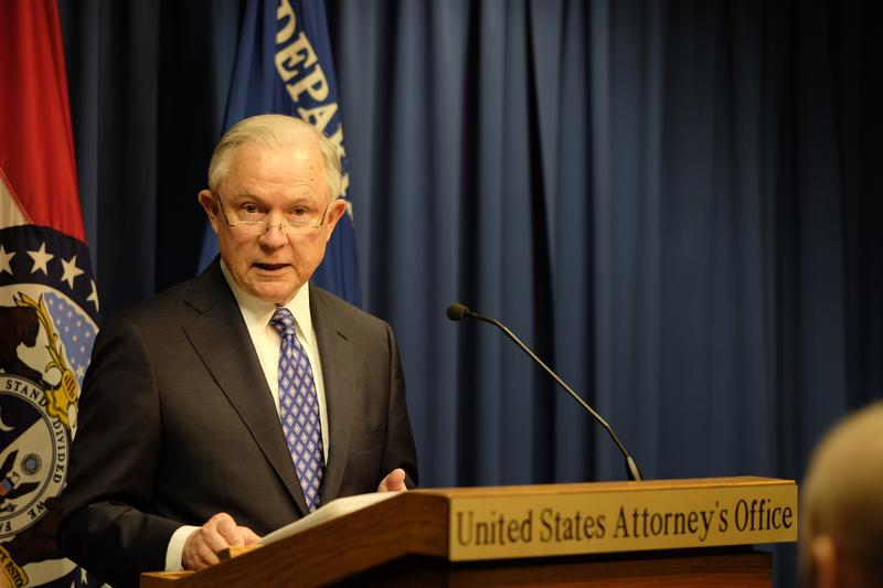 U.S. Attorney General Jeff Sessions spoke Thursday at the Charles Evans Whittaker Courthouse in downtown Kansas City.