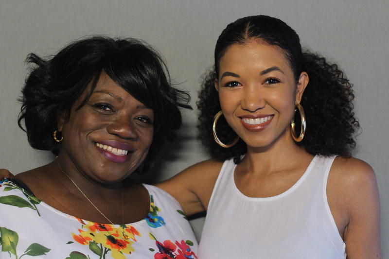 Angela Morehead-Mugita (left) and Sada K. Jackson talked about the impact Jackson's mother had on both of them.